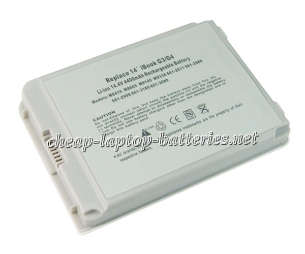 4400mAh Apple Ibook g4 14 Inch m9627ch/A Laptop Battery