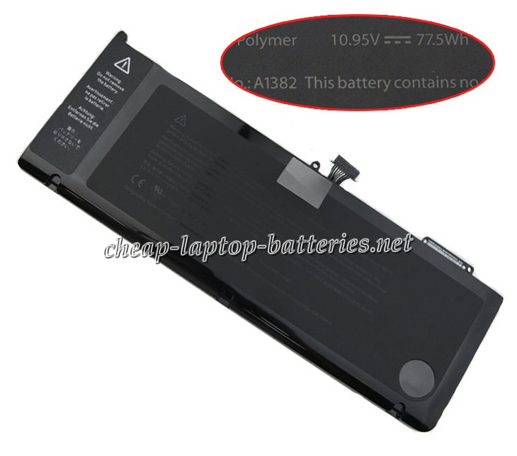 77.5W Apple Macbook Pro 15 Inch mc723ll/A Laptop Battery