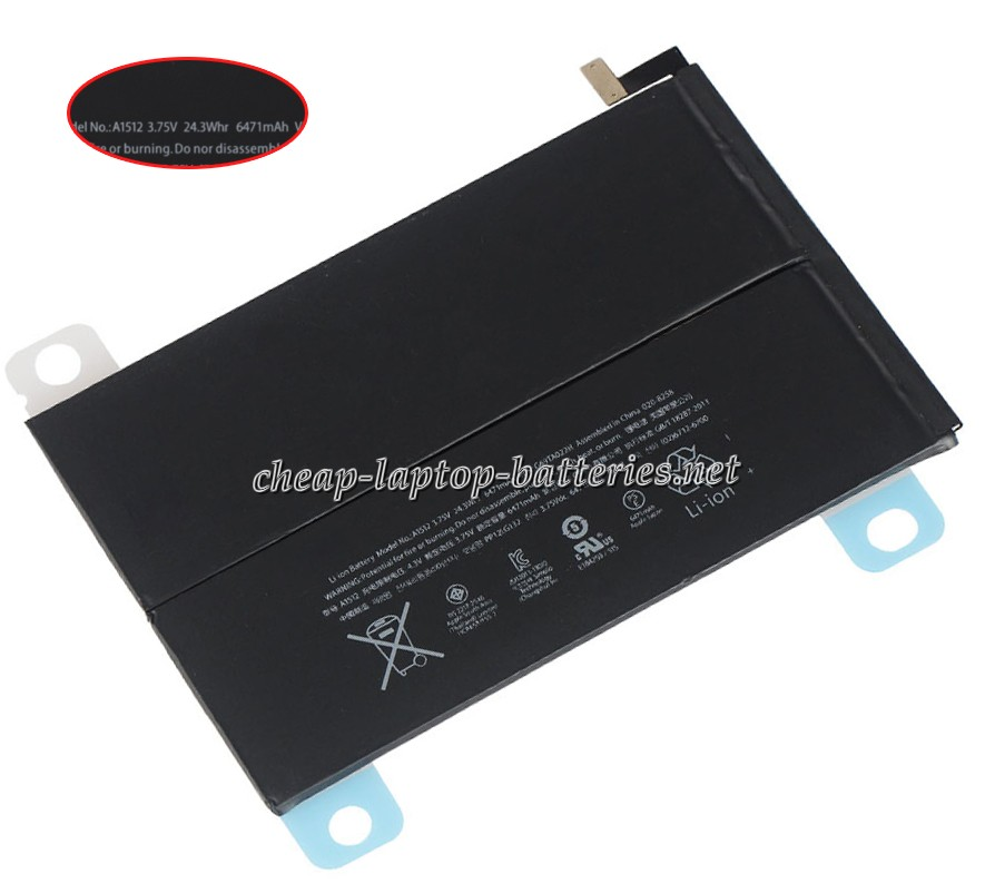 24.3Whr/6471mAh Apple a1490 Laptop Battery