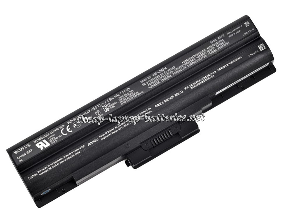 5200mAh Sony Vgp-bps13a Laptop Battery