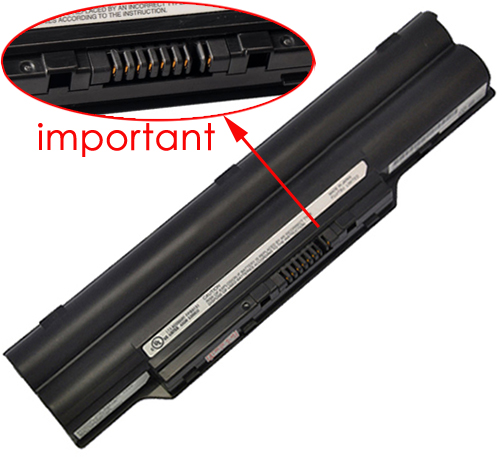 4400mAh Fujitsu Lifebook ah78/Ha Laptop Battery