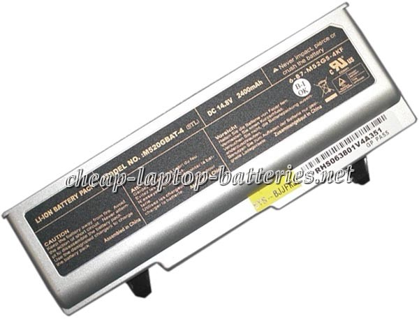 2400mAh Clevo m520-G Laptop Battery