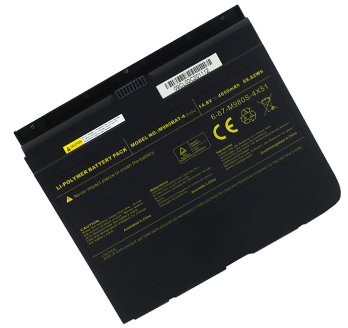 4650mAh Clevo 687m980s4x51 Laptop Battery