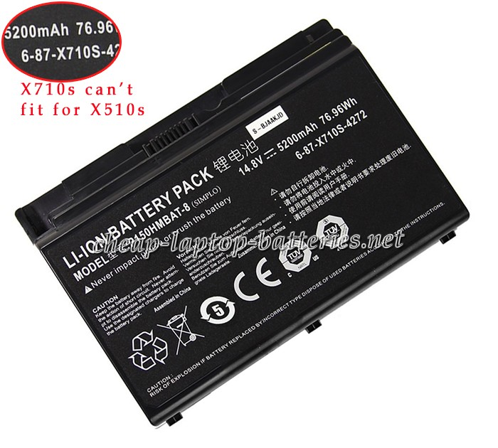 5200mAh Clevo p151em Series Laptop Battery
