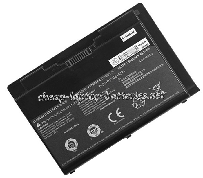 5900 mAh Clevo 6-87-p37es-4271 Laptop Battery