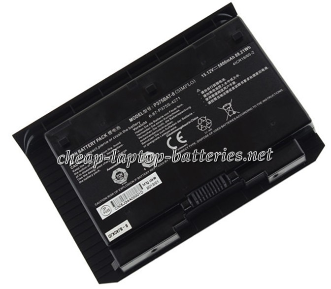 5900mAh Clevo 6-87-p375s-4271 Laptop Battery