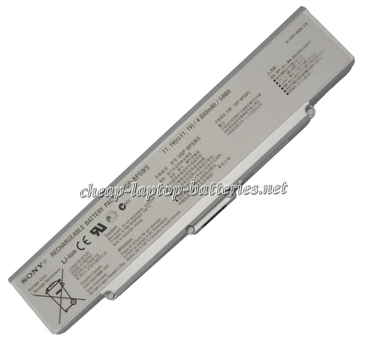 54Wh Sony Vgp-bps9a/S Laptop Battery