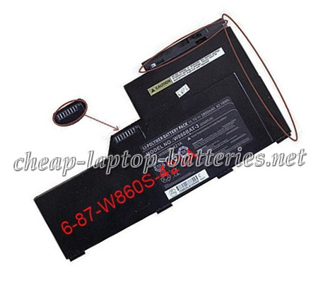 3800mAh Clevo w87 Series Laptop Battery